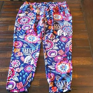 Boden floral pull on jogger style pants